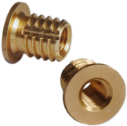 headed brass screw in insert