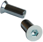 zinc plated countersunk connector cap